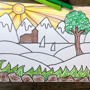 landscape colouring