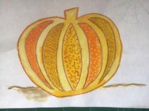 Pumpkin Zentangle