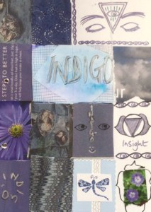 indigo colour display